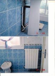salle d'eau bleu