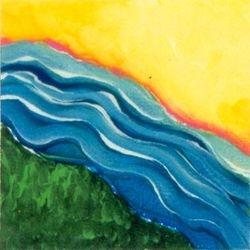 River Run, Tempera, 4x4, Original Sold