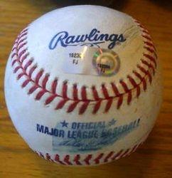Albert Pujols St. Louis Cardinals 2010 Game Used Ball vs. Jair Jurrjens Braves