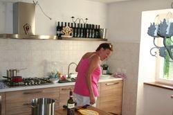 Yvonne in de keuken