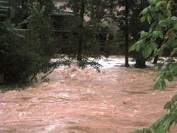 Nancy Creek at Peachtree Dunwoody Road in Sandy Springs