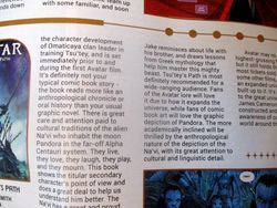 Detail of Text in My Review of Avatar: Tsu'tey?s Path in Starburst Magazine #469: Birds of Prey Collectors? Edition