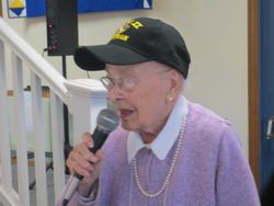 Bobby Locke spoke  on being a Veteran of the Navy Waves