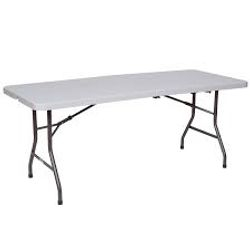 6' Plastic table @ $8.00ea