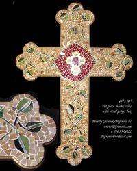 mosaic cross w prayer box