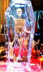 Halloween Skeleton in casket