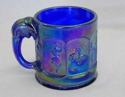 Elephant handled childs mug, blue, Imperial