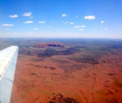 Ayers Rock (Uluru) from the air