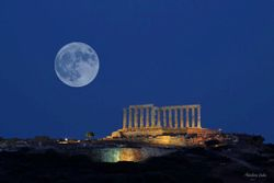 Cape Sounio Full Moon