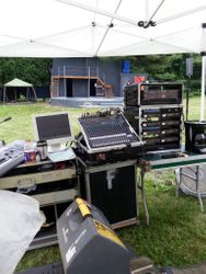 Wireless mics, sound and lighting provided by Thunder and Lighting