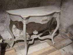 #14/119 Wooden Console marble Top SOLD