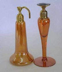 DeVilbiss perfume atomizer and dauber- marigold