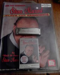 Stan Musial Harmonica with Signature, Music Book and Cassette