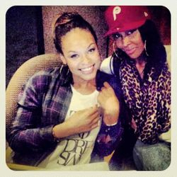 Demetria McKinney & Aaliyah In The Studio on January 15, 2013