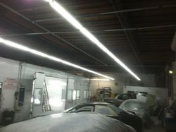Servicing paint shop lighting