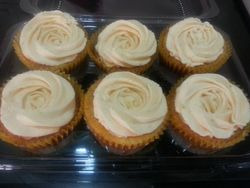 Eggless Cranberry Cupcakes with Orange Zest Cream Cheese Frosting