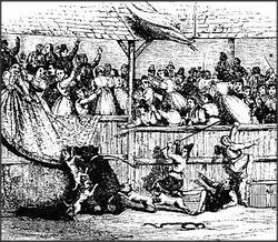 Bear Baiting. 1760s.