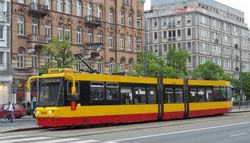 Alstom 116Na tram on Marzalkowska