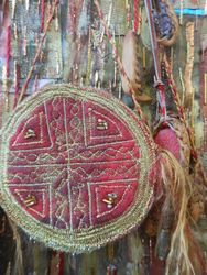 machine stitched felt bag
