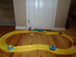 Little Tikes Roadway with Train and Cars - $25