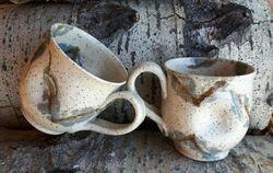 Leaf Stamped Dimple Mugs