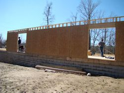 outer walls going up