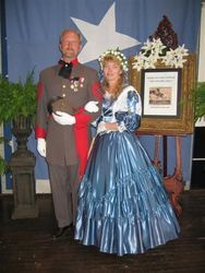 A military man and wife