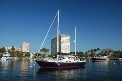 Windfall on a mooring next to us in Fort Lauderdale