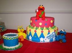 Festive Fondant Birthday Cake