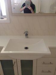 Bathroom Sink After clean pic