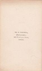 W. H. Wardwell, photographer of Boston, MA - back