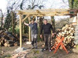 agrandissement de la réserve de bois