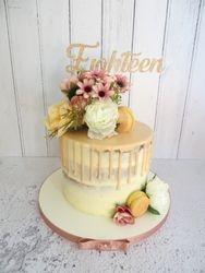 18th Birthday naked drip cake