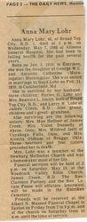 Lohr, Anna Mary Morningstar 1986