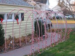 Candy Cane Walkway Arches