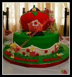 CAKE 56A2 -Strawberry Shortcake Themed Cake