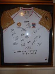 Jets Autographed Away shirt