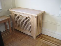 All wood radiator cover