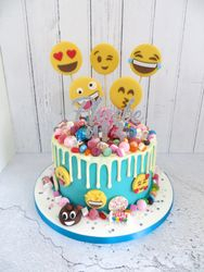 Emoji drip cake