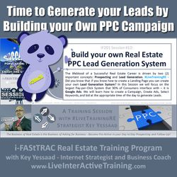 Time to Generate your Leads by Building your Own PPC Campaign - iF201-12 Dec 2019 - #LiveTrainingRE