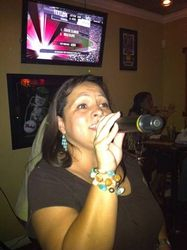 Irka sharing her talent with us at Legendary Friday Night Karaoke!