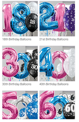 Any number or colour foil or latex balloon