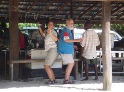 Ann and Joe dancing Caribbean style!