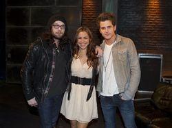 Nathan & Jared with Allison Hagendorf on Fuse TV, NYC (18 Nov 10)