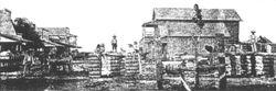 Cotton Weighing Platform  in Brookshire circa 1892