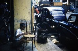 249 Chair repairer Singapore 1960