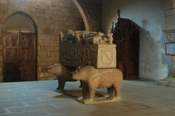 A tomb in one of the ancient churches in Betanzos