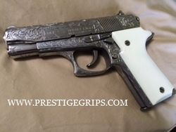 COLT DOUBLE EAGLE MK II Series 90 smooth simulated ivory mounted