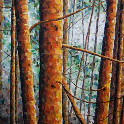 Cedars.  24 x 24.