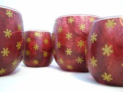 Burgundy and Gold Snowflakes